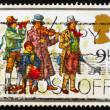 Postage stamp GB 1978 Christmas Carolers — Stock Photo
