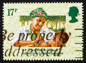 Postage stamp GB 1984 Young doctor take care about child — Foto Stock