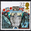 Postage stamp GB 1990 Armagh Observatory, Jodrell Bank and La Pa - Stock Photo