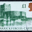 Postage stamp GB 1988 Carrickfergus Castle — Stock Photo