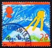 邮票 gb 1992 臭氧层 — 图库照片