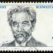 Stock Photo: Postage stamp Germany 1975 Dr. Albert Schweitzer