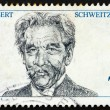 Postage stamp Germany 1975 Dr. Albert Schweitzer — Stock Photo #7606206