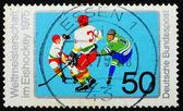 Postage stamp Germany 1975 Ice Hockey — Stock Photo
