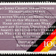 Stock Photo: Postage stamp Germany 1990 Charter of GermExpellees