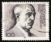 Postage stamp Germany 1976 Wilhelm Leuschner — Stock Photo