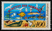Postage stamp Germany 1990 North Sea Fauna — Stock Photo