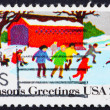 Postage stamp USA 1982 Skating — Stock Photo
