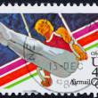 Royalty-Free Stock Photo: Postage stamp USA 1983 Gymnast