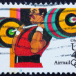 Royalty-Free Stock Photo: Postage stamp USA 1983 Weightlifting
