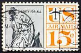Postage stamp USA 1959 Statue of Liberty — Stock Photo