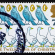 Postage stamp GB 1977 Four Colly Birds, Five Gold Rings, six Gee — Stock Photo #7662347