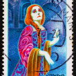 Postage stamp Germany 1976 Hermine Korner as Lady Macbeth — Stock Photo