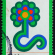 Postage stamp Germany 1977 Flower Show Emblem — Stock Photo #7705758