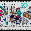 ������, ������: Postage stamp Germany 1980 Wine production