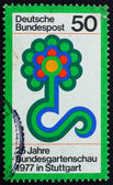 Postage stamp Germany 1977 Flower Show Emblem — Stock Photo