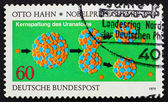 Postage stamp Germany 1979 Otto Hahn's Diagram of the Splitting — Stock Photo