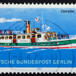 Stock Photo: Postage stamp Germany 1975 Steamship Sperber