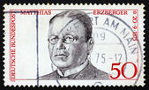 Postage stamp Germany 1975 Matthias Erzberger — Stock Photo