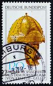 Postage stamp Germany 1977 Gilt Helmet — Stock Photo