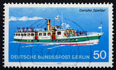 Postage stamp Germany 1975 Steamship Sperber — Stock Photo