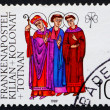 Stock Photo: Postage stamp Germany 1989 Saints Kilian, Colmand Totnan