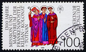 Postage stamp Germany 1989 Saints Kilian, Colman and Totnan — Stock Photo