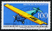 Postage stamp Germany 1991 Fokker FIII — Stock Photo