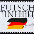 Postage stamp Germany 1995 German Reunification - Stock Photo
