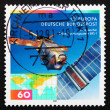 Stock Photo: Postage stamp Germany 1991 EuropeRemote Sensing Satellite