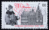 Postage stamp Germany 1995 Diet of Worms — Stock Photo