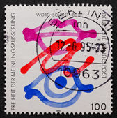 Postage stamp Germany 1995 Freedom of Expression — Stock Photo
