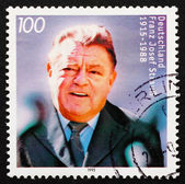 Postage stamp Germany 1995 Franz Josef Strauss, Politician — Stock Photo