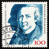 Postage stamp Germany 1990 Matthias Claudius, poet — Stock Photo