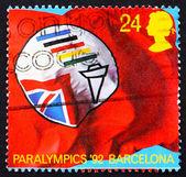 Posta pulu gb 1992 bayrak i̇ngiliz paralimpik derneği — Stok fotoğraf