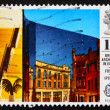 Postage stamp GB 1987 Willis Faber and Dumas Building, Ipswich - Stock Photo
