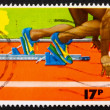 Postage stamp GB 1986 Sprinter in the Starting Block — Stock Photo