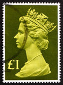 Postage stamp GB 1977 Her Majesty the Queen Elizabeth II — Stock Photo