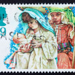 Postage stamp GB 1994 Mary and Joseph with infant Jesus - 图库照片