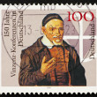Postage stamp Germany 1995 Pastor and Cross — Zdjęcie stockowe