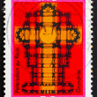 Postage stamp Germany 1975 Plan of St. Peters church — Stockfoto