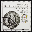 Postage stamp Germany 1990 Teutonic order heraldic emblem - Stock Photo