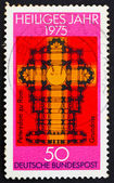 Postage stamp Germany 1975 Plan of St. Peters church — Stock Photo