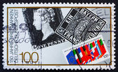 Postage stamp Germany 1990 First postage stamps — Stock Photo