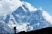 Hike in Nepal — Stock Photo