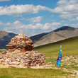 Mongolian landscape - Stock Photo