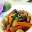 Wok steamed vegetables — Stock Photo