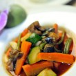 Wok steamed vegetables - Stock Photo