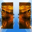 Stock Photo: Mirror buildings