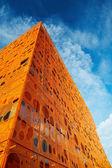 Modern orange building — Stock Photo